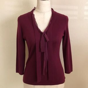 Banana Republic Burgundy 3/4 Sleeve Top